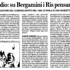Altro che suicidio: su Bergamini i Ris pensano all'omicidio – da 'Il Fatto Quotidiano' – 18/02/12