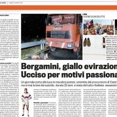 Bergamini: giallo evirazione. Ucciso per motivi passionali – da 'La Gazzetta dello Sport' – 23/04/12