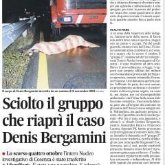 Sciolto il gruppo che riaprì il caso Denis Bergamini – da 'L'Unità' – 18/10/12