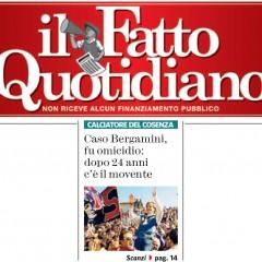 Denis Bergamini fu ucciso. Ora c'è anche un movente – da 'Il Fatto Quotidiano' – 04/04/13