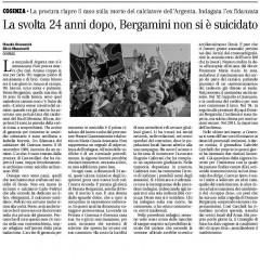 La svolta 24 dopo, Bergamini non si è suicidato – da 'Il Manifesto' – 17/05/13