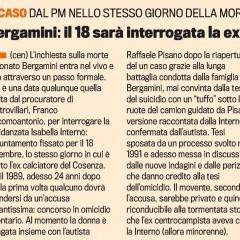Bergamini: il 18 sara interrogata la ex fidanzata – da 'La Gazzetta dello Sport' – 27/10/13