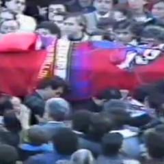 [Video inedito] Funerali Denis Bergamini – Cosenza Piazza Loreto – Novembre 1989.