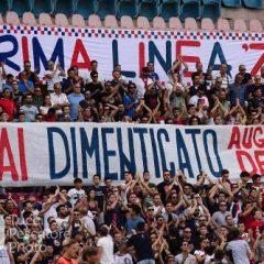 La Tribuna A ricorda Denis ~ 18 settembre 2016 Stadio S.Vito~Marulla