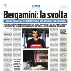"""""""Bergamini: la svolta"""" Tuttosport 20 marzo 2021"""